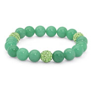 Birthstone Beaded Stretch Bracelet - A2144