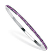 Birthstone Silver-tone Eternity Bangle - A2145