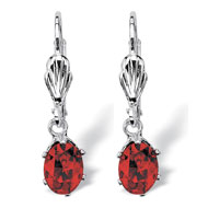 Birthstone Silver-tone Drop Earrings - A2150