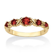 Birthstone X and O Gold-plated Ring - A2155