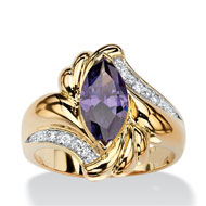 Purple Amethyst Cocktail Ring - A2156
