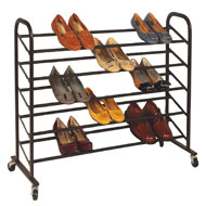 Rolling 5-Level Shoe Rack