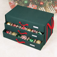 3-Drawer Christmas Ornaments Storage Chest - A2166