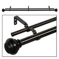 Brenner Double Curtain Rod Set
