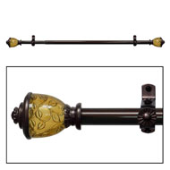 Lincroft Antique Bronze Curtain Rod Set