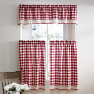 Buffalo Check Country Style Cafe Curtain - A2195