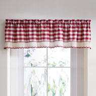 Country Buffalo Check Window Valance - A2196