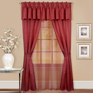 Claire Classic Elegant Curtain Set - 6pc - A2203