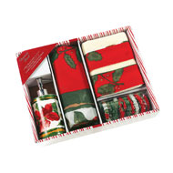 Christmas Floral Complete Bathroom Gift Set - 16pc - A2279