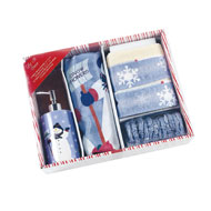 Let it Snow Complete Holiday Bathroom Gift Set - 16pc - A2280