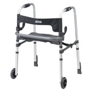 Clever Lite Rolling Walker with Seat and Backrest - A2345